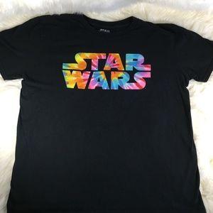 Star Wars Tie Dye Graphic Tee Mens Large